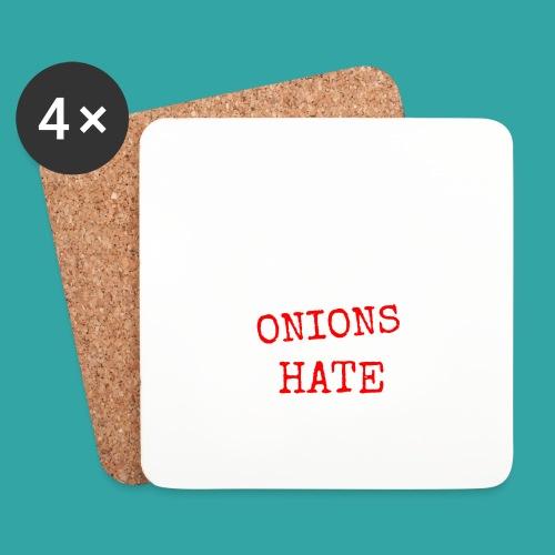 Onions & hate - Coasters (set of 4)