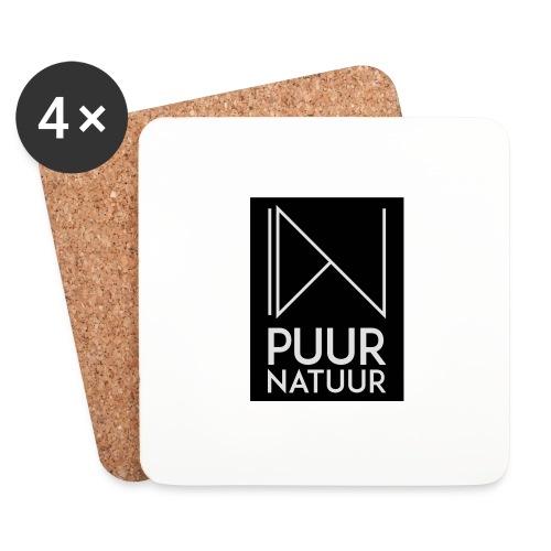 Logo puur natuur negatief - Onderzetters (4 stuks)