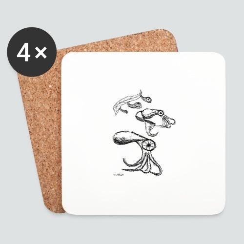 Octopussy png - Untersetzer (4er-Set)