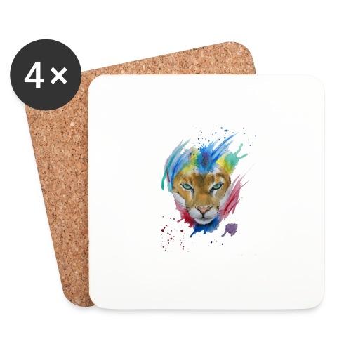 Mountain Lion Watercolors Nadia Luongo - Sottobicchieri (set da 4 pezzi)