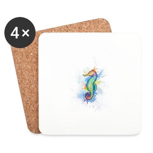 Seahorse Watercolors Nadia Luongo - Sottobicchieri (set da 4 pezzi)