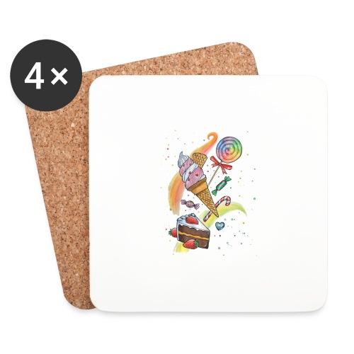 Sweets Watercolors Nadia Luongo - Sottobicchieri (set da 4 pezzi)