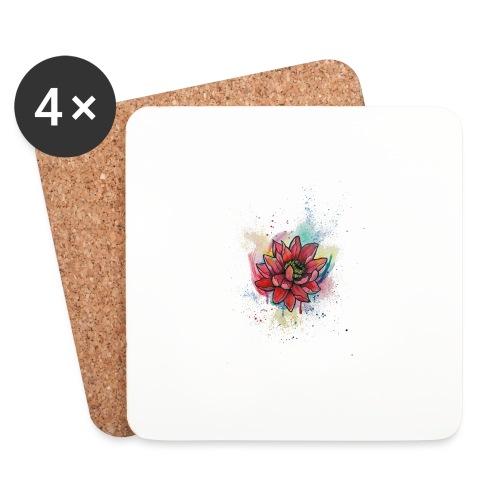 Waterlily Watercolors Nadia Luongo - Sottobicchieri (set da 4 pezzi)