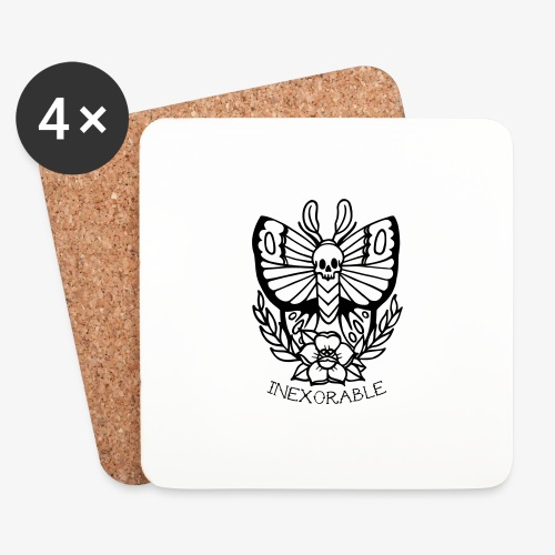Traditional Tattoo Moth - Coasters (set of 4)
