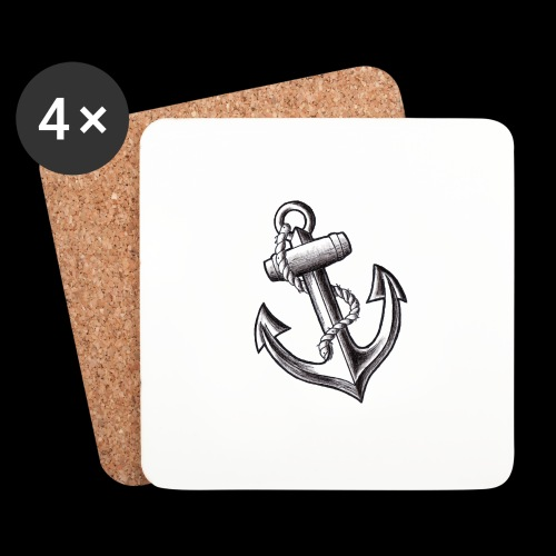 Anchor Tattoo Flash - Sottobicchieri (set da 4 pezzi)
