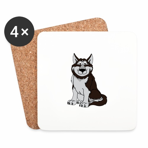Husky - Untersetzer (4er-Set)