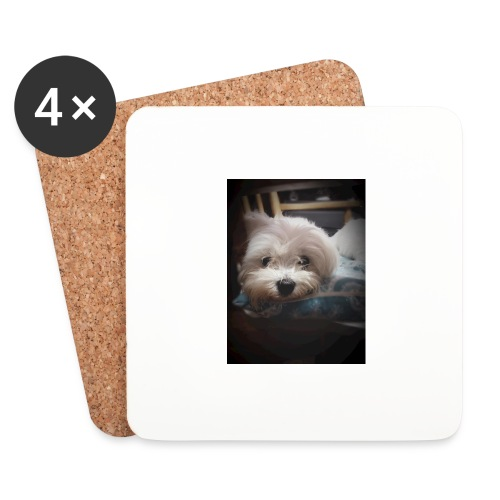 Pure White Pup - Coasters (set of 4)
