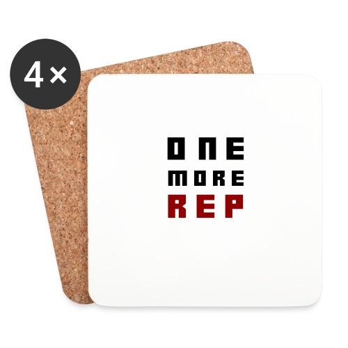 OneMoreRep - Dessous de verre (lot de 4)