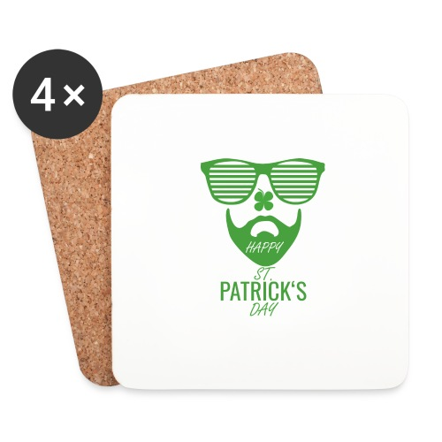 Happy St. Patrick's Beard Day - Untersetzer (4er-Set)