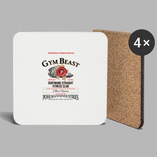 GYM BEAST - Untersetzer (4er-Set)