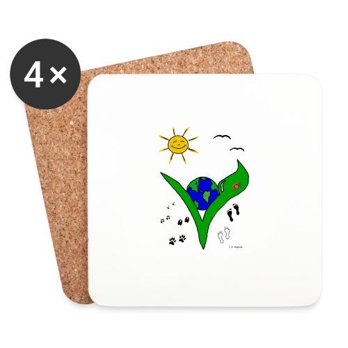 Ein Logo geht um die Welt - Untersetzer (4er-Set)