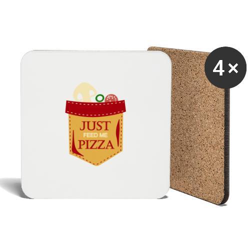 Dammi solo la pizza - Sottobicchieri (set da 4 pezzi)