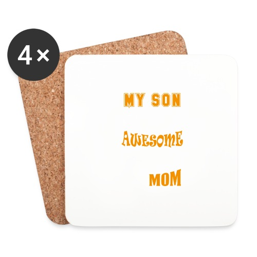 My Son Is Super Awesome His Mom - Coasters (set of 4)