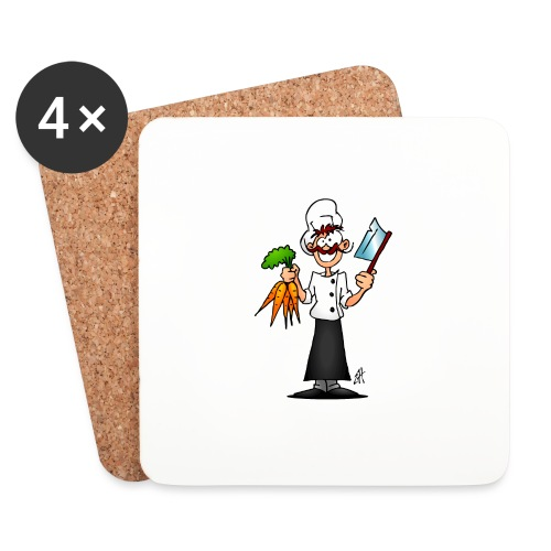 The vegetarian chef - Coasters (set of 4)