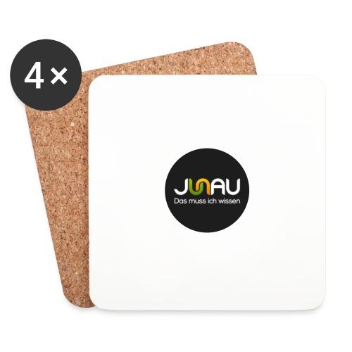 JUNAU - Das muss ich Wissen (rund) - Untersetzer (4er-Set)