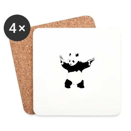 oso panda pistolas - Posavasos (juego de 4)