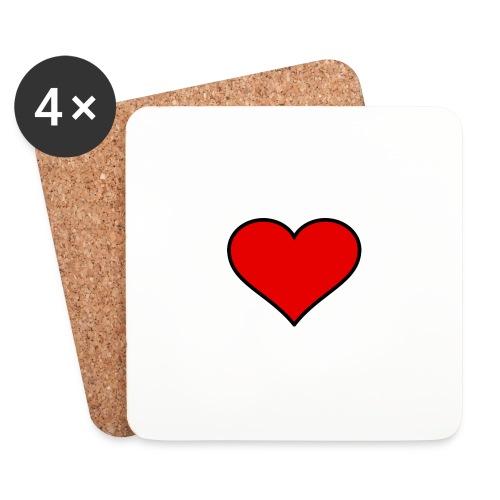 big heart clipart 3 - Underlägg (4-pack)