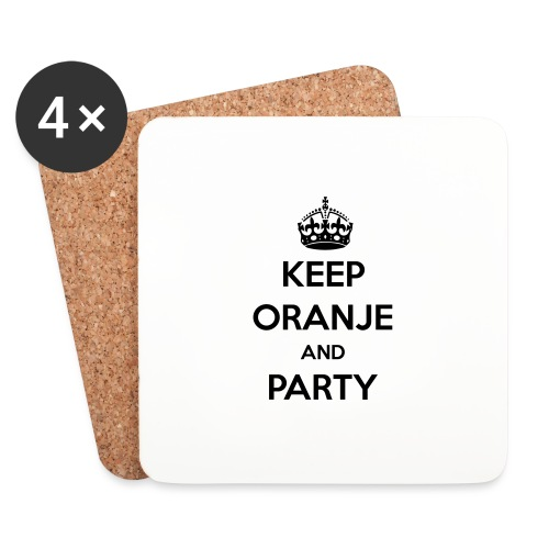 KEEP ORANJE AND PARTY - Onderzetters (4 stuks)