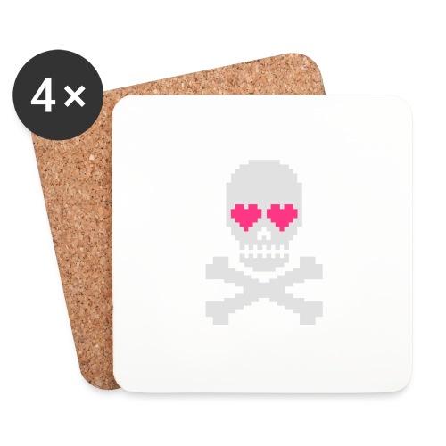 Skull Love - Onderzetters (4 stuks)