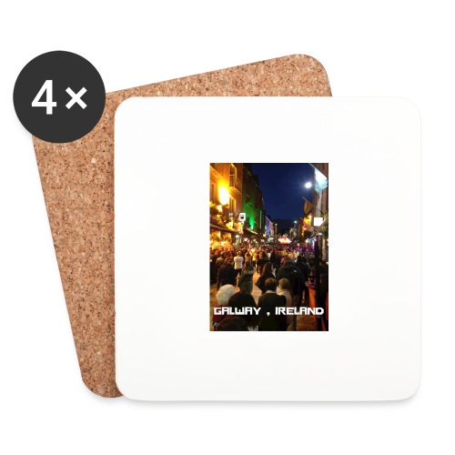 GALWAY IRELAND SHOP STREET - Coasters (set of 4)