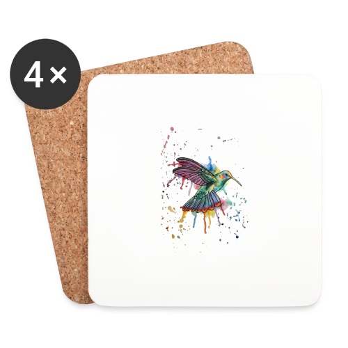 Hummingbird Watercolors Nadia Luongo - Sottobicchieri (set da 4 pezzi)