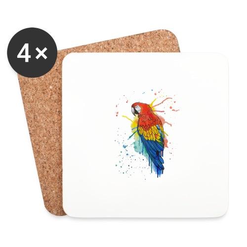 Parrot Watercolors Nadia Luongo - Sottobicchieri (set da 4 pezzi)
