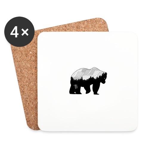 Geometric Mountain Bear - Sottobicchieri (set da 4 pezzi)