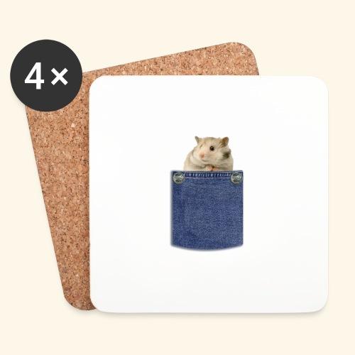 hamster in the poket - Sottobicchieri (set da 4 pezzi)