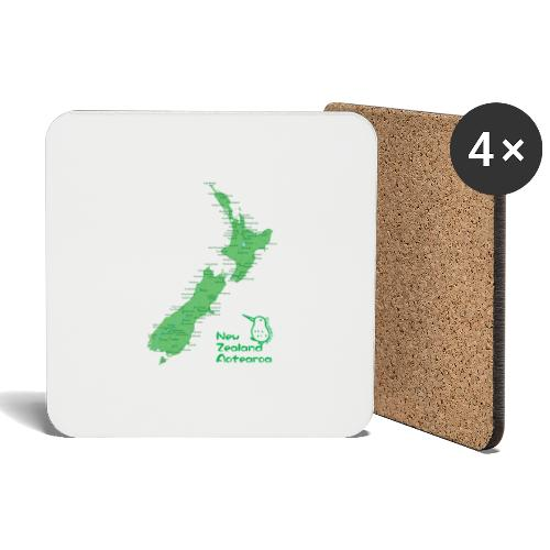 New Zealand's Map - Coasters (set of 4)
