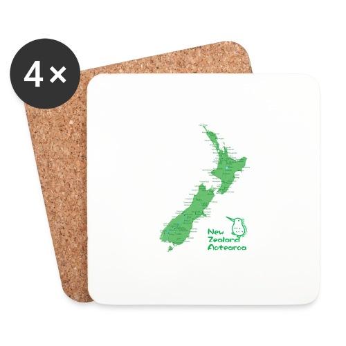 New Zealand's Map - Coasters (set of 4)