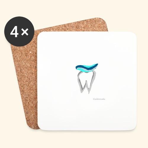 Zahn mit Pasta - Untersetzer (4er-Set)