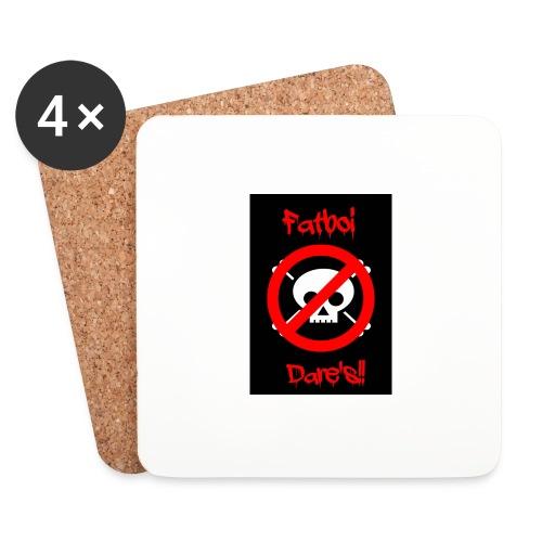 Fatboi Dares's logo - Coasters (set of 4)