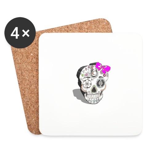Tête de mort mexicaine 3D - Dessous de verre (lot de 4)