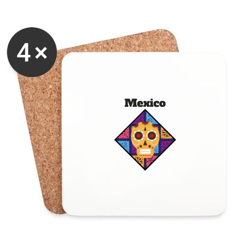Mexico Calavera - Posavasos (juego de 4)