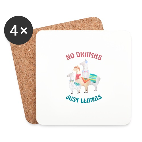 No Dramas Just Llamas - Coasters (set of 4)