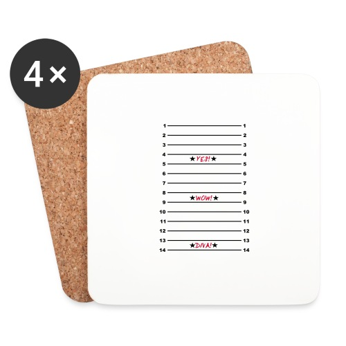 Yes Wow Diva Length Check T-Shirt - Coasters (set of 4)