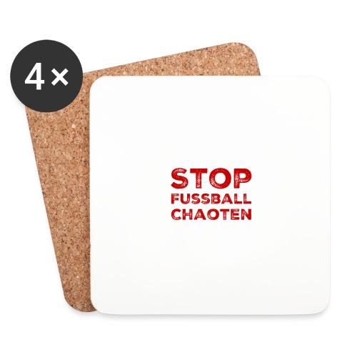Stop Fussball Chaoten - Untersetzer (4er-Set)