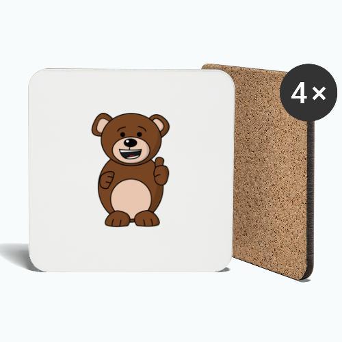 Bruno Bear Happy - Appelsin - Underlägg (4-pack)