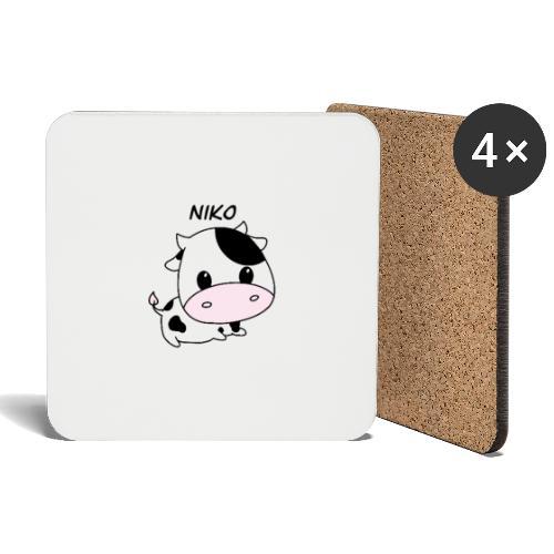 mug with a cow on - Glasbrikker (sæt med 4 stk.)