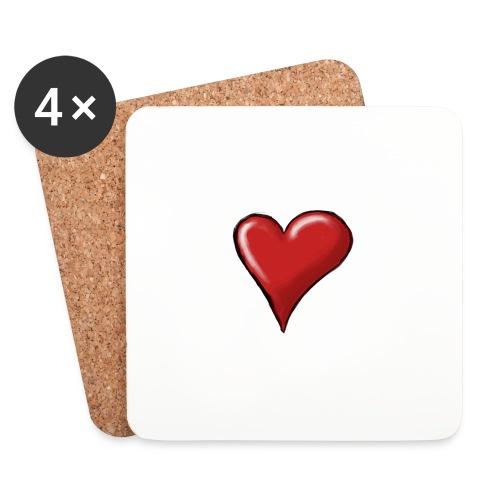 Love (coeur) - Dessous de verre (lot de 4)