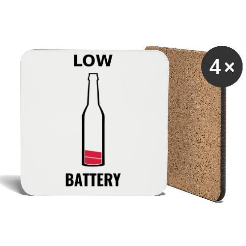 Beer Low Battery - Dessous de verre (lot de 4)