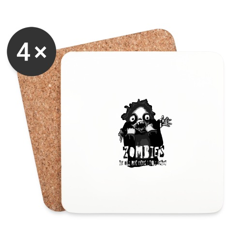 zombies - the only meat eaters i truly respect sv - Underlägg (4-pack)