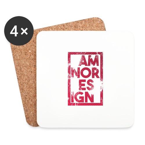 Damnor design (H) - Dessous de verre (lot de 4)
