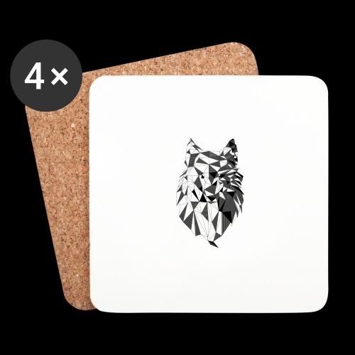 Polygoon wolf - Onderzetters (4 stuks)