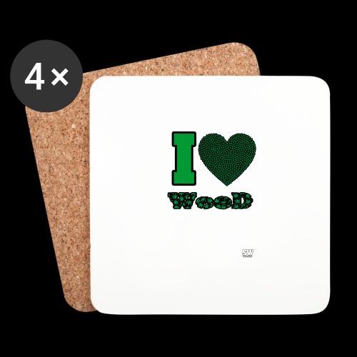 I Love weed - Dessous de verre (lot de 4)