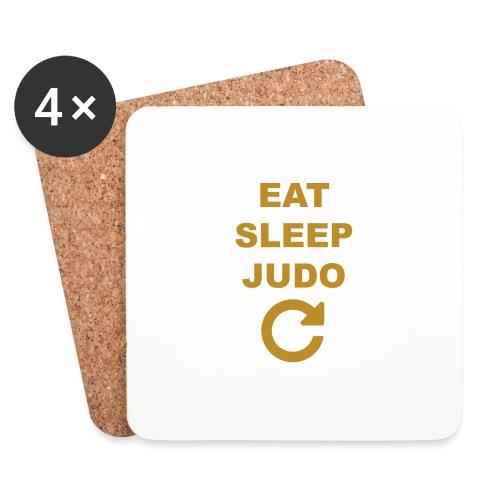 Eat sleep Judo repeat - Podstawki (4 sztuki w zestawie)