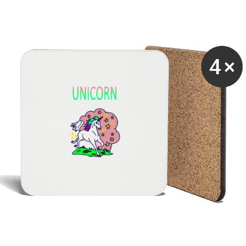 Einhorn unicorn - Untersetzer (4er-Set)