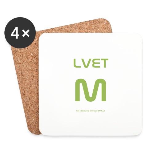 LVET M vert olive - Dessous de verre (lot de 4)