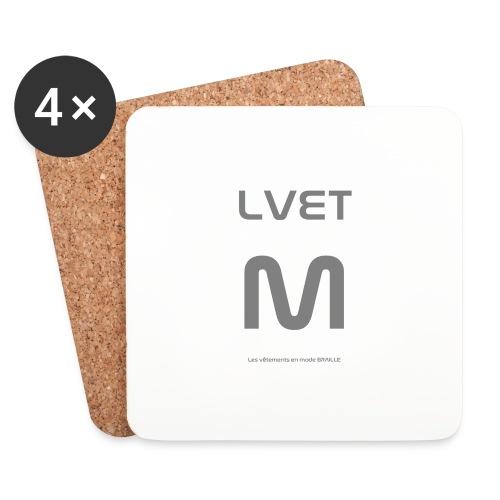 LVET M gris - Dessous de verre (lot de 4)