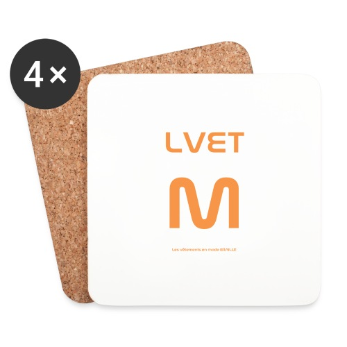 LVET M orange - Dessous de verre (lot de 4)